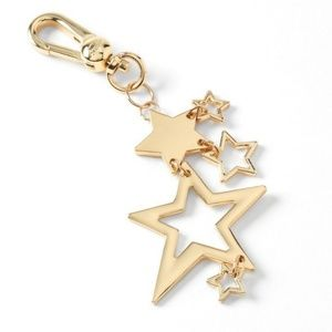 Juicy Couture gold stars Key Chain Charm